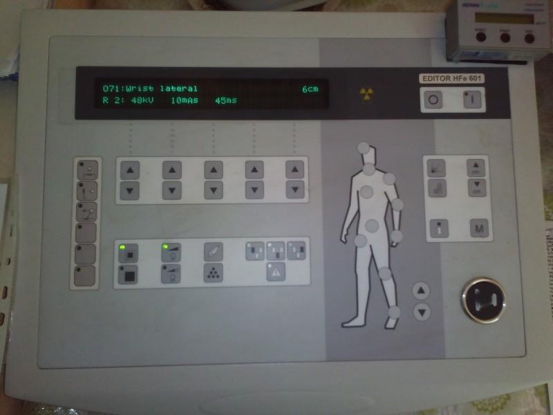 panou control radiografii